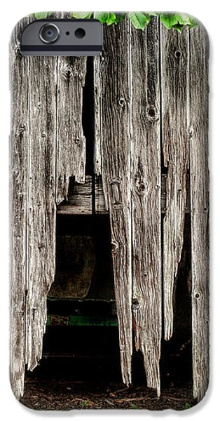 Barn Boards - Rustic Decor iPhone Case by Gary Heller