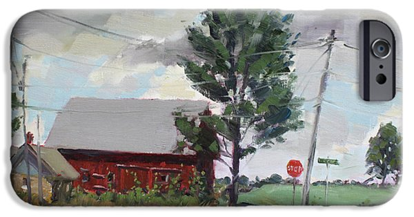Power iPhone Cases - Barn by Lockport Rd iPhone Case by Ylli Haruni