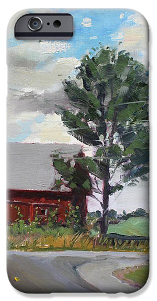 Barn by Lockport Rd iPhone Case by Ylli Haruni