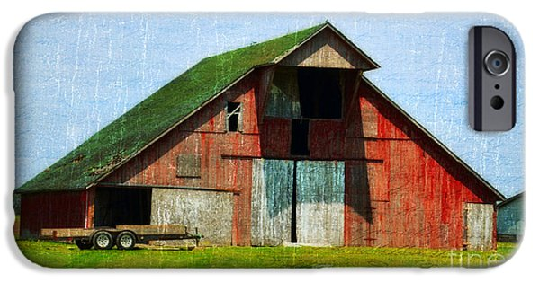 Recently Sold -  - Village iPhone Cases - Barn - Central Illinois - Luther Fine Art iPhone Case by Luther   Fine Art