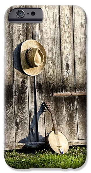 Barn Door and Banjo Mandolin iPhone Case by Bill Cannon