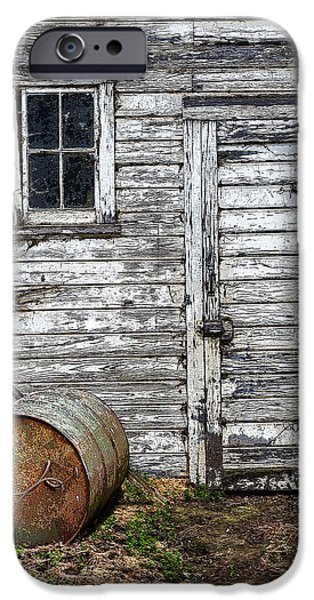 Recently Sold -  - Old Barn Drawing iPhone Cases - Barn Door iPhone Case by Armando Picciotto