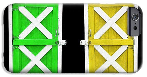 Shed iPhone Cases - Barn Doors iPhone Case by Gunter Nezhoda