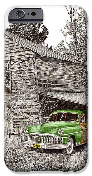 Barn Finds classic cars iPhone Case by Jack Pumphrey