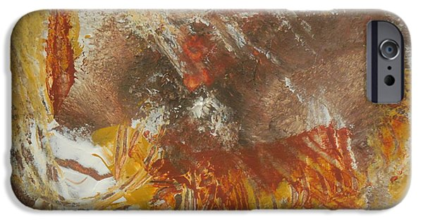 Raw Sienna iPhone Cases - Barn Fire iPhone Case by Karen Butscha