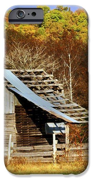 Barn in Fall iPhone Case by Marty Koch