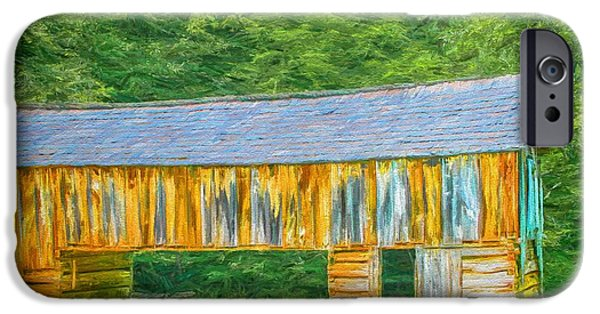 Old Barns iPhone Cases - Rustic - Barn - Farm - Barn in the Cove iPhone Case by Barry Jones