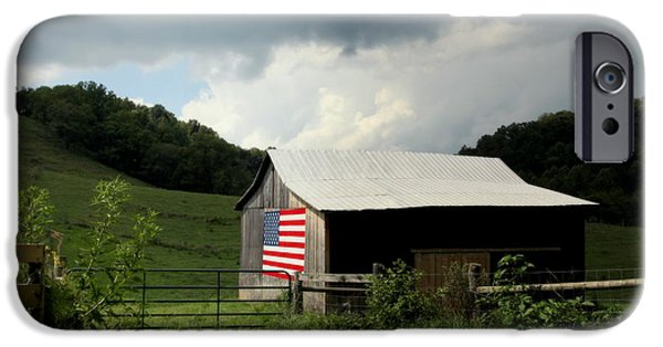 Old Barns iPhone Cases - Barn in the USA iPhone Case by Karen Wiles