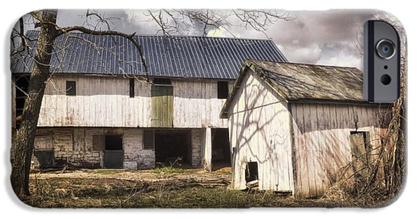 Shed iPhone Cases - Barn Near Utica Mills Covered Bridge iPhone Case by Joan Carroll