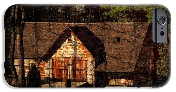 Old Barn iPhone Cases - Barn No. 6 iPhone Case by Marcia Lee Jones