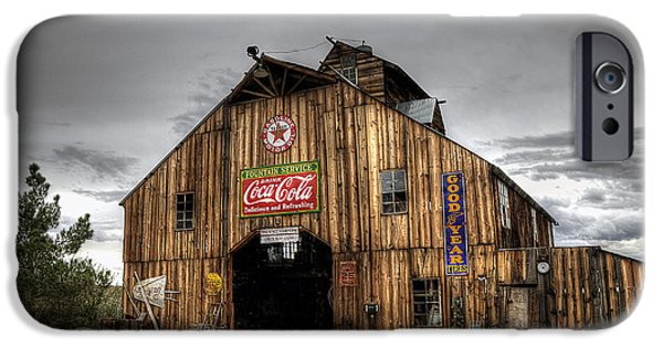 Old Barns iPhone Cases - Barn of Antiques iPhone Case by Eddie Yerkish