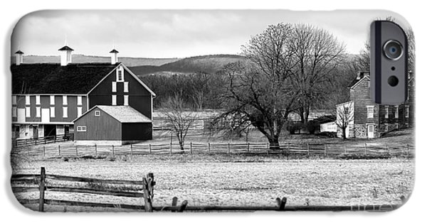 Old Barn Poster Photographs iPhone Cases - Barn on the Battlefield iPhone Case by John Rizzuto