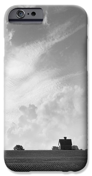 Farm iPhone Cases - Barn on Top of the Hill 2 iPhone Case by Mike McGlothlen