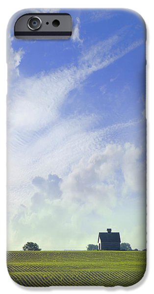 Farm iPhone Cases - Barn on Top of the Hill iPhone Case by Mike McGlothlen