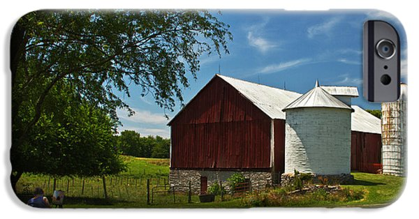 Painter Print Photographs iPhone Cases - Barn Painting iPhone Case by Guy Shultz