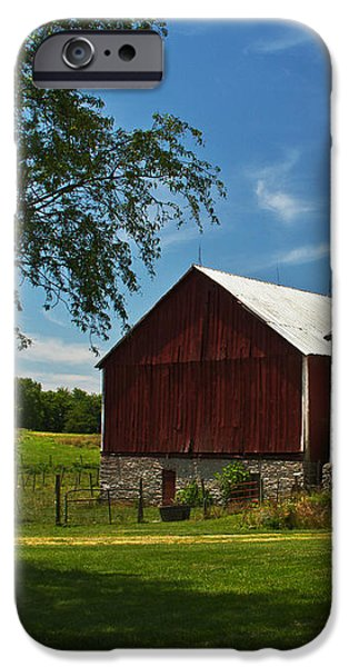 Barn Painting iPhone Case by Guy Shultz