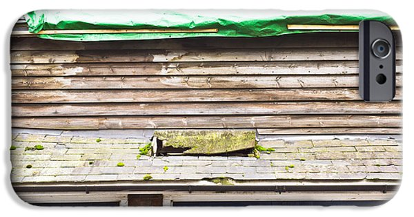 Torn iPhone Cases - Barn repairs iPhone Case by Tom Gowanlock