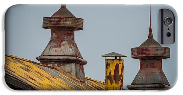 Old Barn Poster Photographs iPhone Cases - Barn Roof in Color iPhone Case by Paul Freidlund