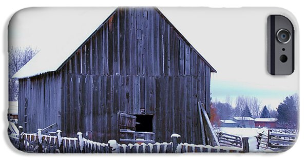 Wintertime iPhone Cases - Barn Standing Tall iPhone Case by Kae Cheatham