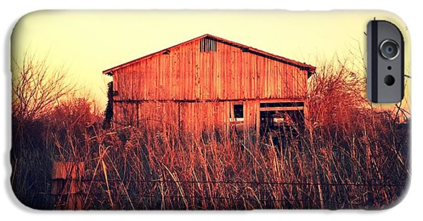 Old Barns Pyrography iPhone Cases - Barn iPhone Case by Steve Coy