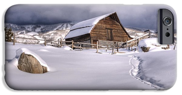Recently Sold -  - Old Barns iPhone Cases - Barn Storm iPhone Case by Paul Beckelheimer