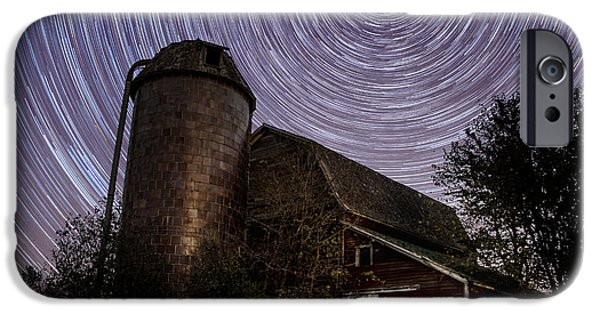 Barns iPhone Cases - Barn Trails iPhone Case by Aaron J Groen