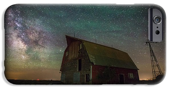 Old Barns iPhone Cases - Barn VIII iPhone Case by Aaron J Groen