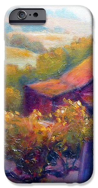 Barn Vineyard iPhone Case by Carolyn Jarvis