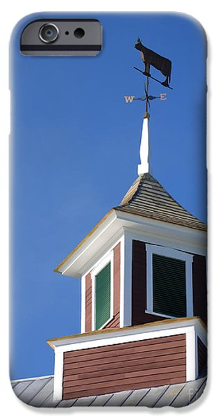 Barn Poster Photographs iPhone Cases - Barn Weathervane iPhone Case by Edward Fielding