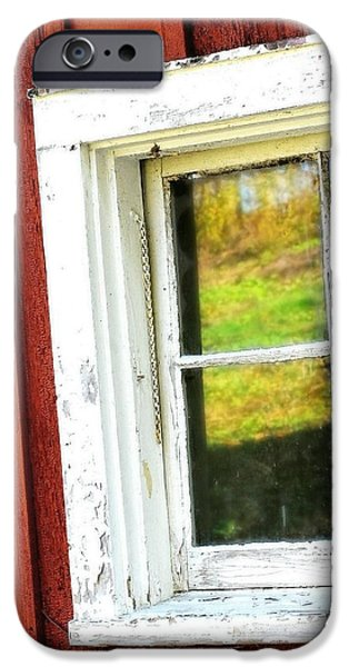 Old Barn iPhone Cases - Barn Window iPhone Case by Diana Angstadt