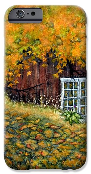 Barn window Reflections iPhone Case by Janine Riley