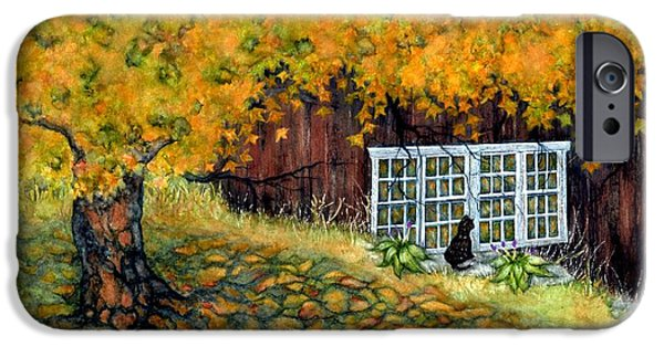 Window Of Life iPhone Cases - Barn window Reflections iPhone Case by Janine Riley