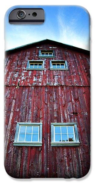 Barns iPhone Cases - Barn Windows iPhone Case by Jeff Klingler