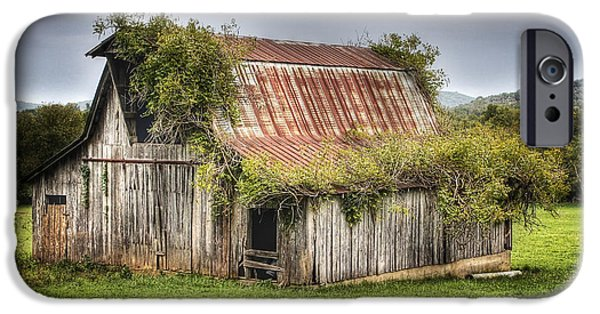 Arkansas iPhone Cases - Barn with Character iPhone Case by Tony  Colvin