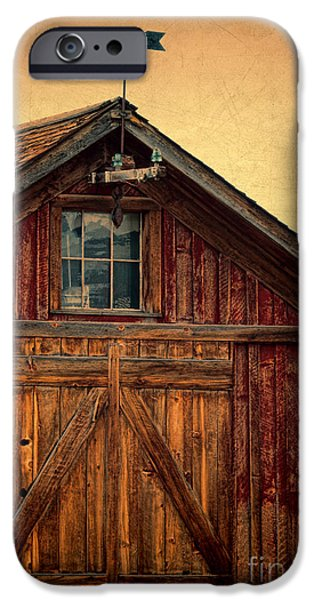 Weathervane Photographs iPhone Cases - Barn with Weathervane iPhone Case by Jill Battaglia