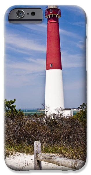 Lighthouse iPhone Cases - Barnegat Lighthouse iPhone Case by Anthony Sacco