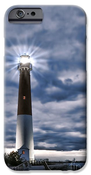 Lighthouse iPhone Cases - Barnegat Magic iPhone Case by Olivier Le Queinec