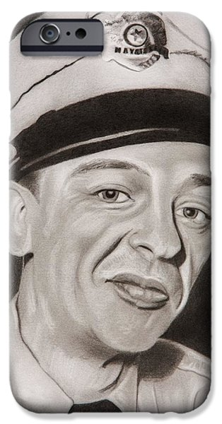 Andy Griffith iPhone Cases - Barney Fife iPhone Case by Brian Broadway