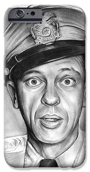 Andy Griffith Show iPhone Cases - Barney Fife iPhone Case by Greg Joens