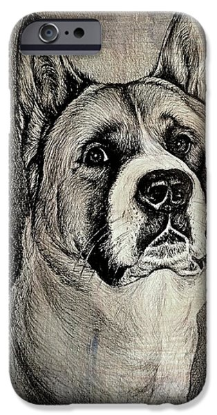 Japanese Dog iPhone Cases - Barney the dog iPhone Case by Andrew Read