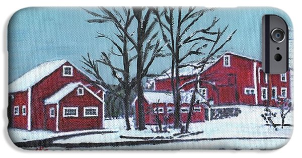 Northeastern University iPhone Cases - Barns at the Warren Conference Center iPhone Case by Cliff Wilson