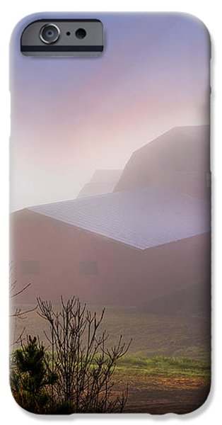 Barns in the Morning Light iPhone Case by Debra and Dave Vanderlaan