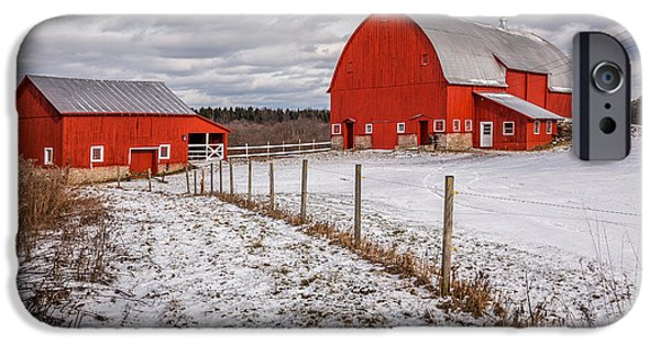 Crops iPhone Cases - Barns of New York iPhone Case by Everet Regal