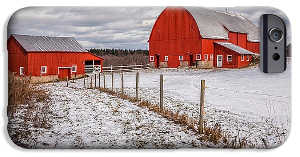 Upstate New York iPhone Cases - Barns of New York iPhone Case by Everet Regal