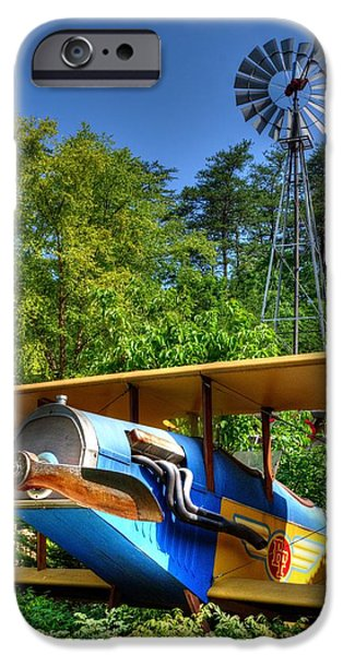 Barnstormer Photographs iPhone Cases - Barnstormer iPhone Case by Mark Bowmer
