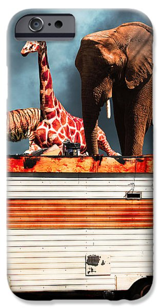 Barnum and Bailey Goes On a Road Trip 5D22705 iPhone Case by Wingsdomain Art and Photography