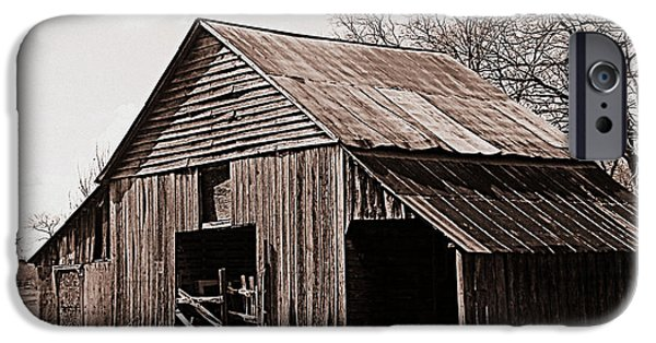Old Barns iPhone Cases - Barnyard iPhone Case by Grace Lee