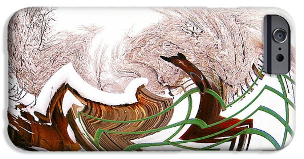 Barns Pyrography iPhone Cases - There Was A Crooked Horse iPhone Case by Dale Jackson