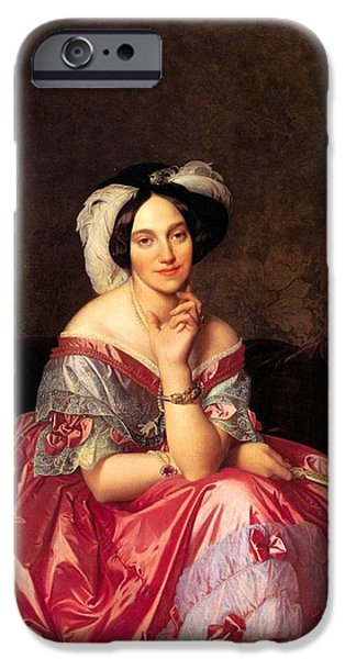 Baroness iPhone Cases - Baroness James de Rothschild iPhone Case by Jean-Auguste-Dominique Ingres