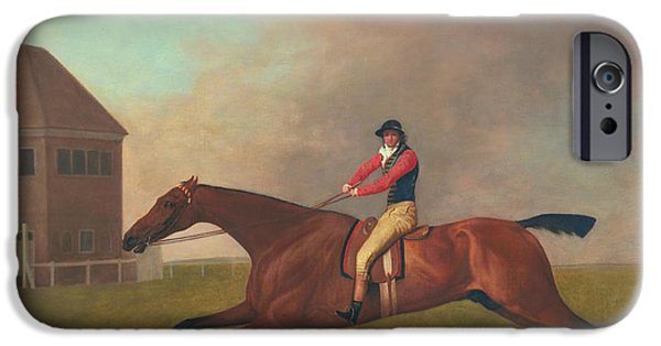 Equestrian Prints iPhone Cases - Baronet with Sam Chifney Up iPhone Case by George Stubbs